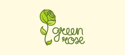 green rose logo design