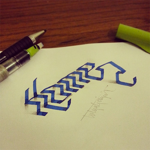 home tolga girgin 3D typography
