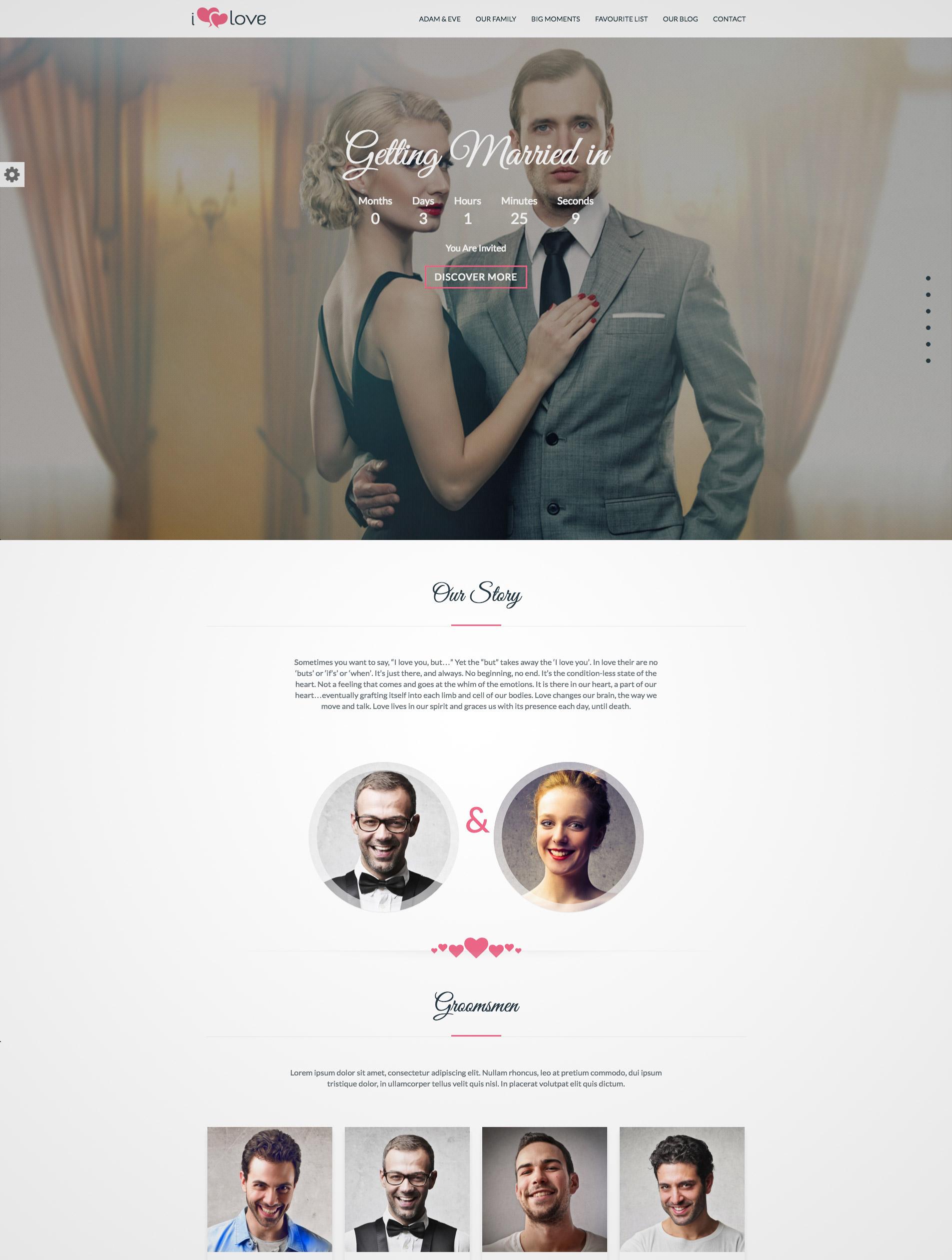 david-wedding wordpress theme