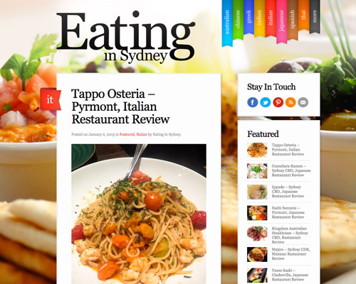 Sydney food web design