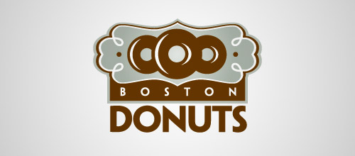 boston donuts logo design