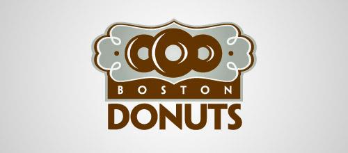 boston donuts logo design