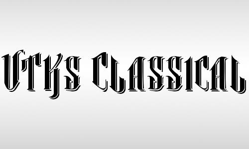 classic vintage font