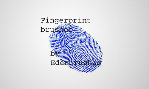 fingerprint free photoshop brush