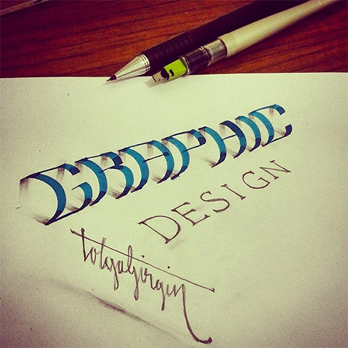 graphic 3D typography girgin