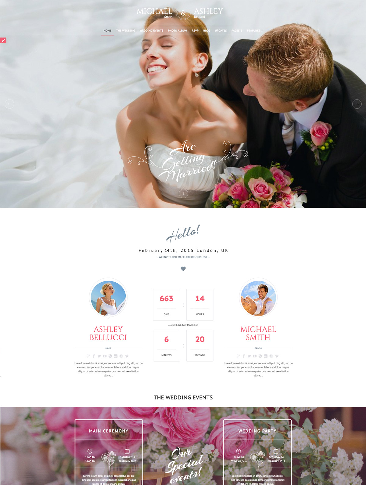honeymoon wedding responsive theme
