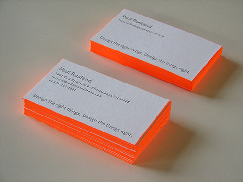nice orange neon business card design
