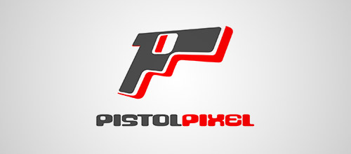 pistol pixel gun logo design