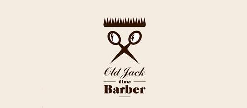 barber scissors logo design
