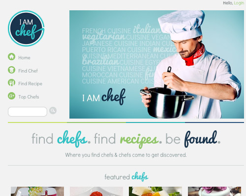 chef food website design