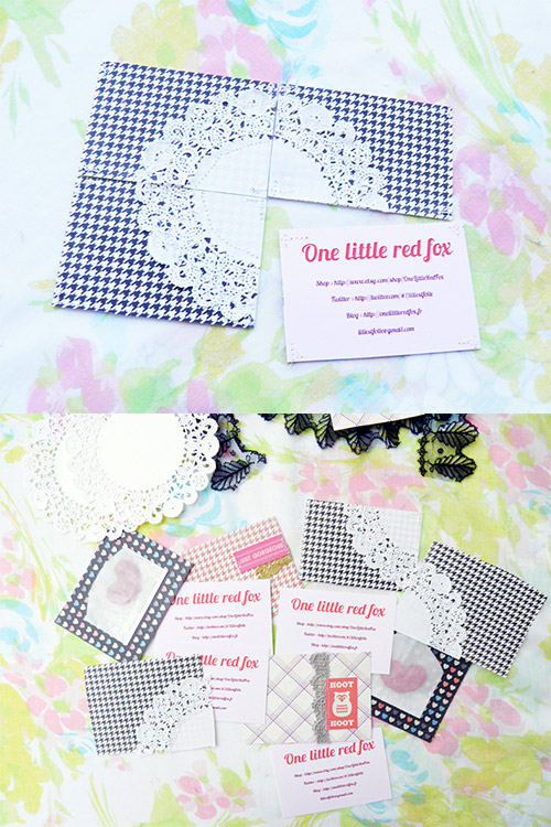 lace DIY business card
