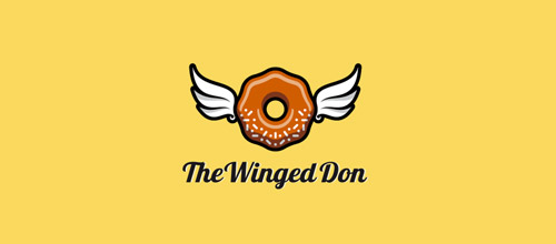 winged don donut logo design