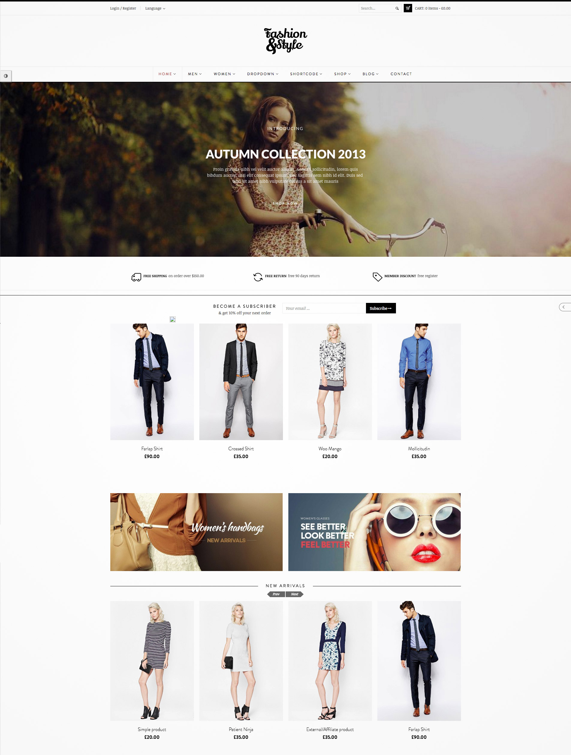 woocommerce responsive template
