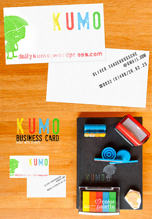 DIY business cards stamps