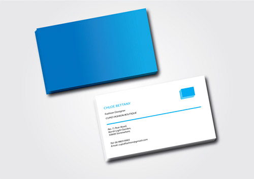 blue business card gradient design