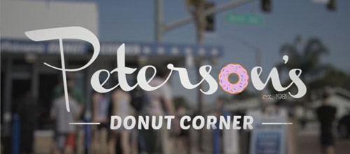 donut corner logo design