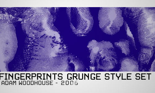 fingerprint grunge brushes