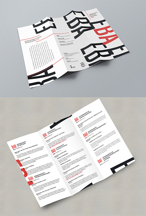 guide trifold brochure