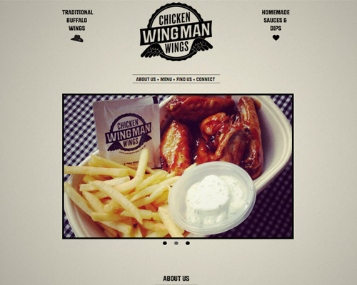 wingman chicken wings web design