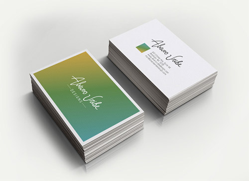 alvaro uribe business card design