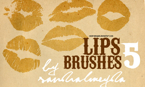 photoshop brushes lips free