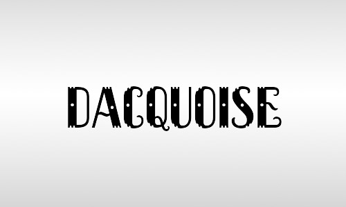 dacquoise font free vintage