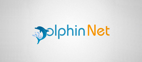 dolphin net logo design