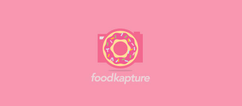 donut camera logo design