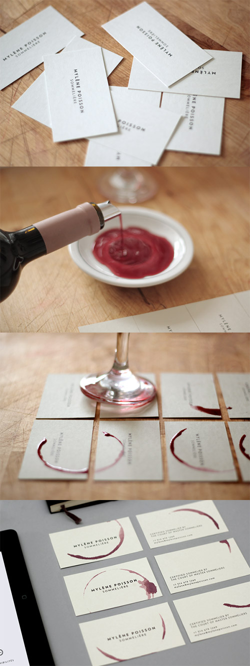 wine DIY business card