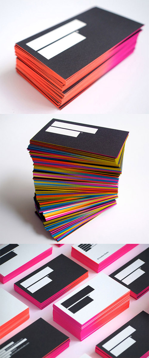 creative business card gradient