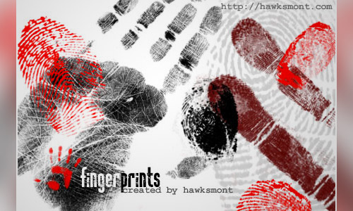 fingerprints photoshop brush set