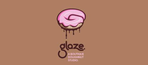 glze donut logo design