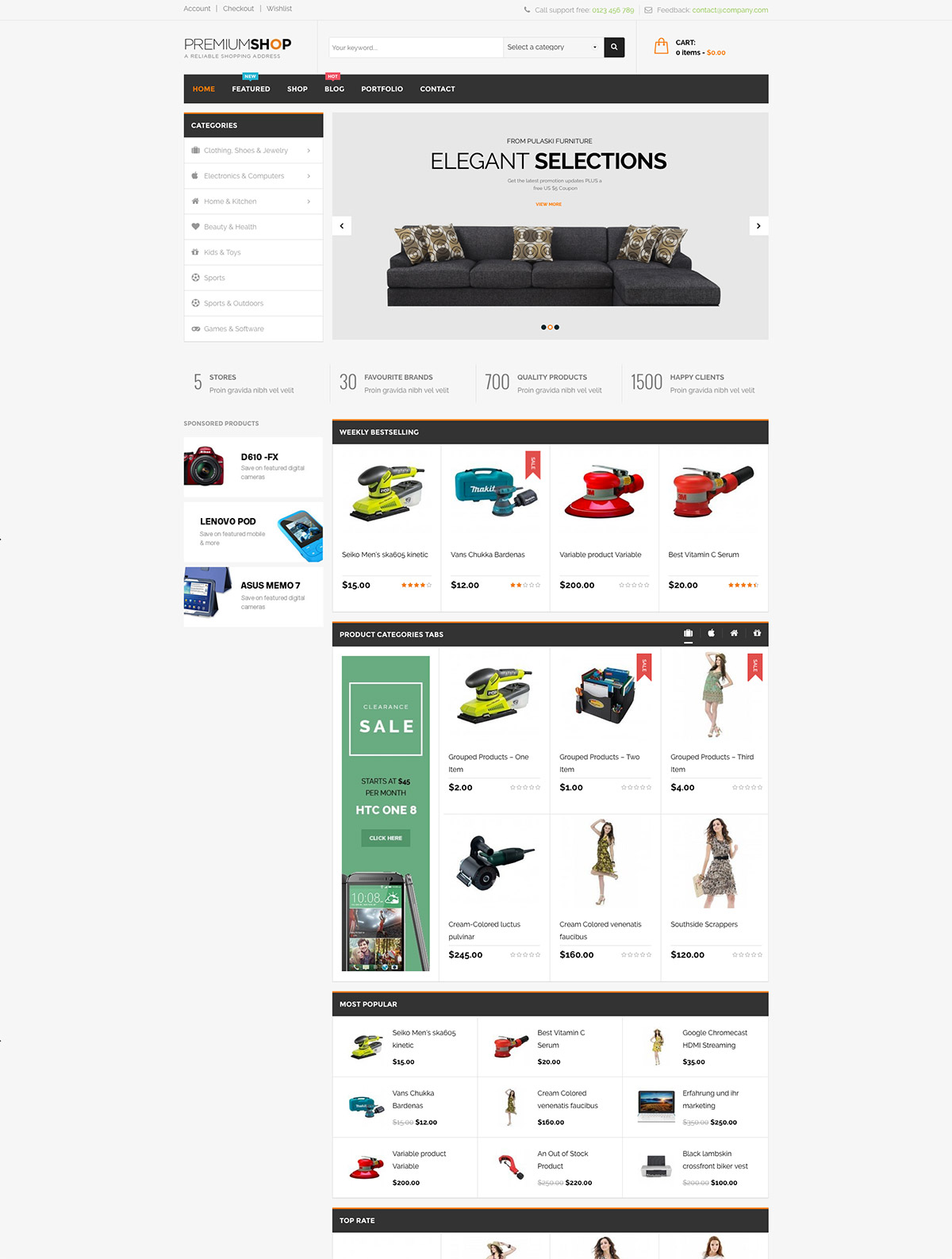 woocommerce shopping themes