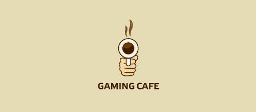 gamingcafe gun logo design
