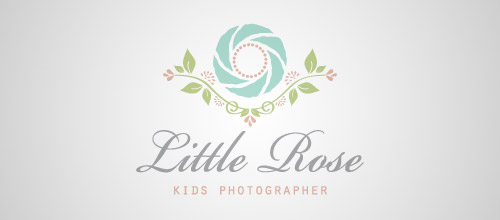 little rose kids photography logo design