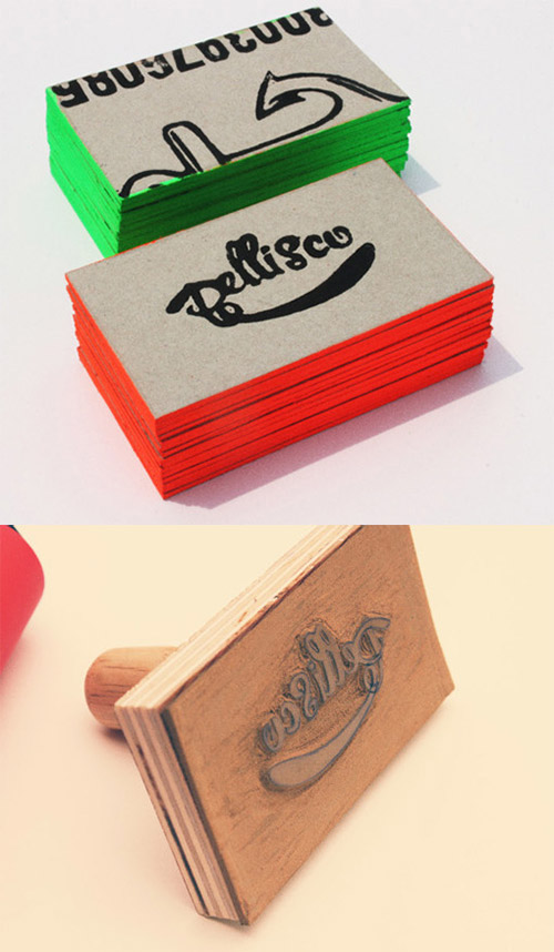 pellisco business card DIY design