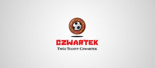 czwartek donut logo design