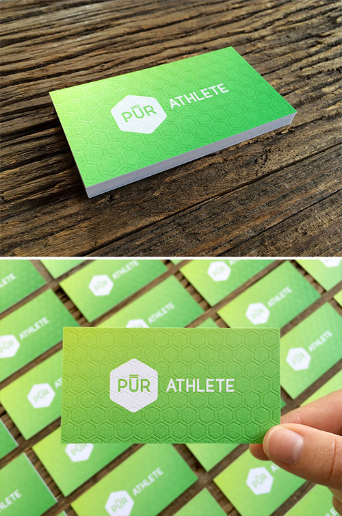 green gradient business card