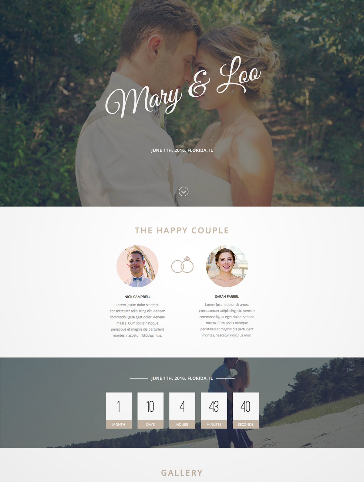 sweet wedding wordpress