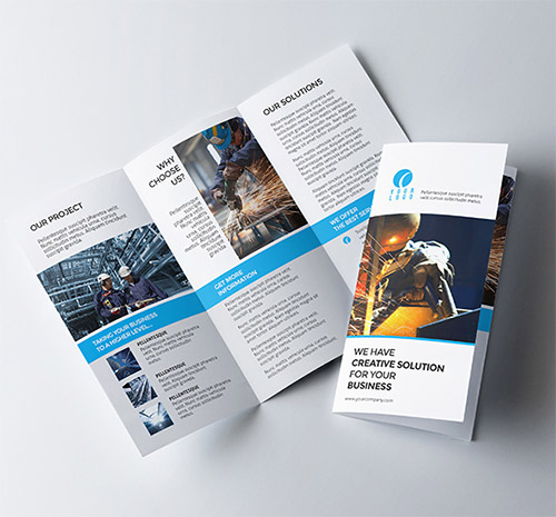 30 creative examples of tri fold brochure designs naldz for Tri fold business brochure template
