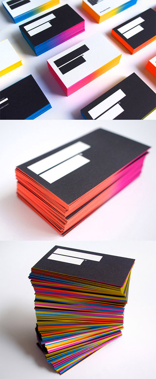 IS creative studio neon business card
