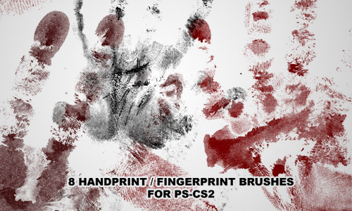 handprint brushes PS