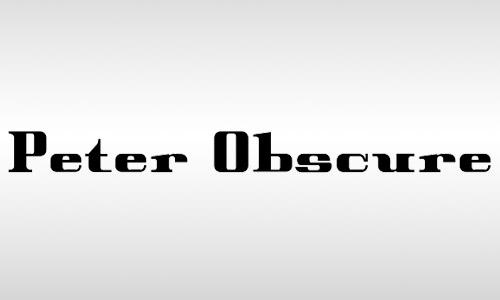 obscure vintage font free