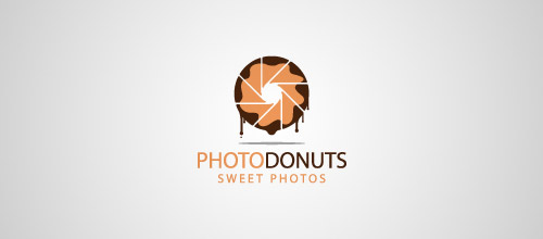 photo donuts logo deisgn