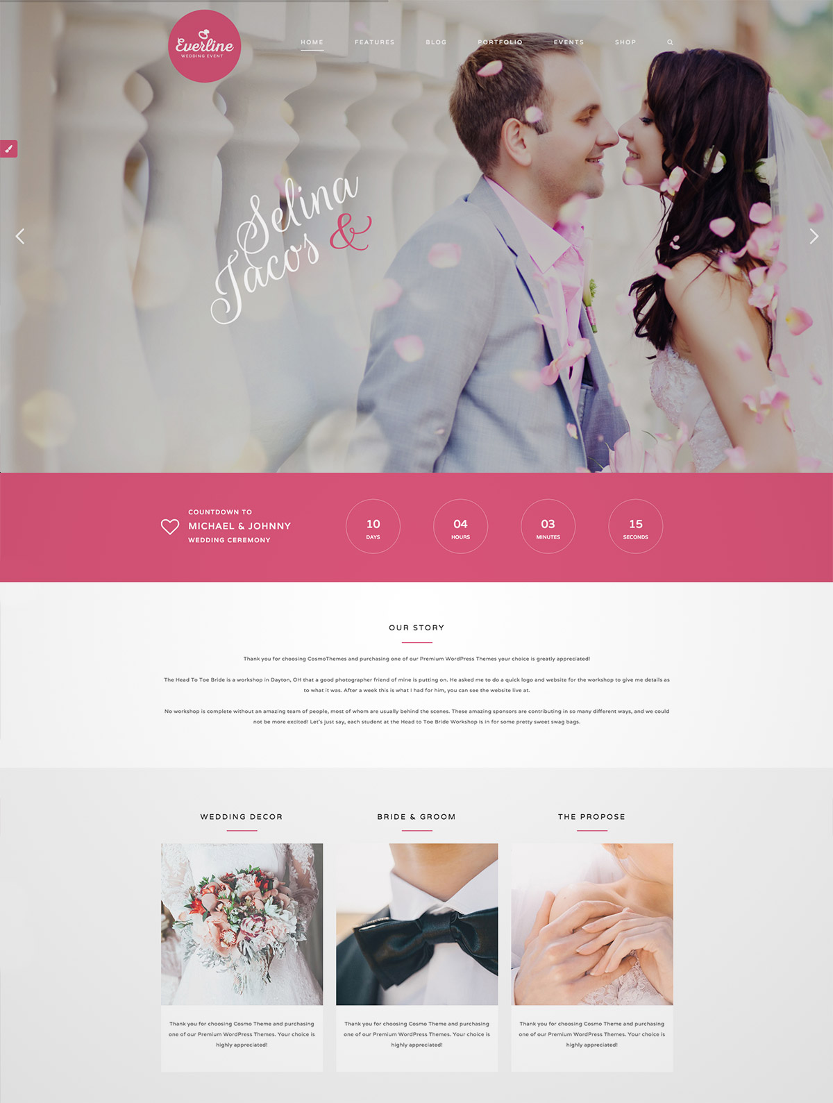 premium wedding wordpress
