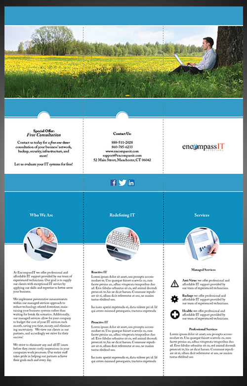 IT trifold brochure