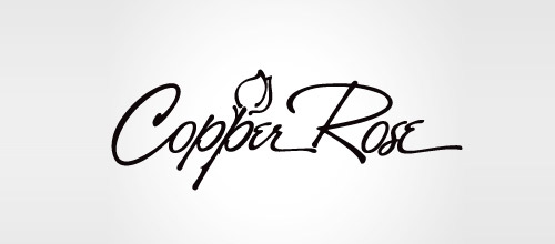 copper rose logo design
