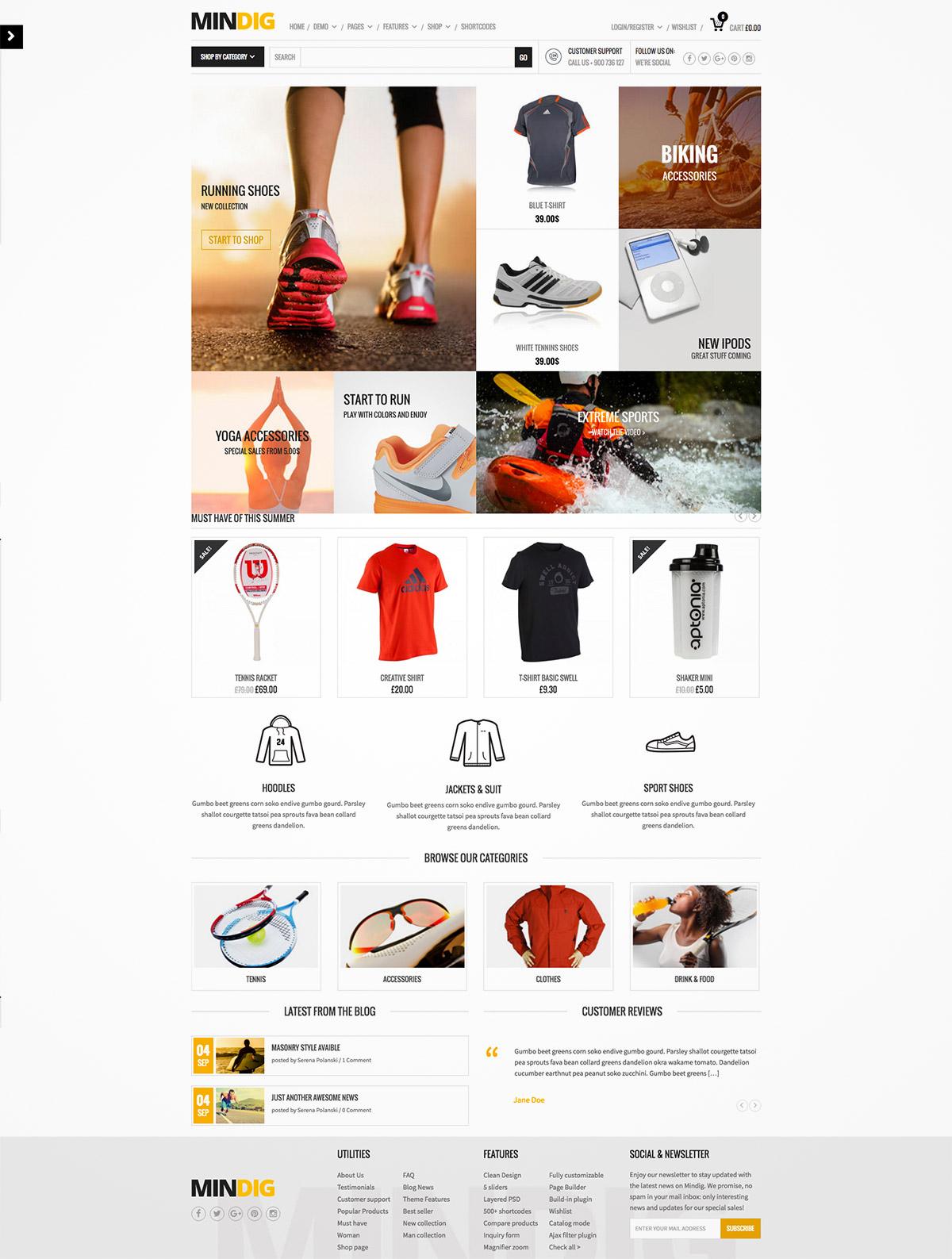 flat ecommerce template