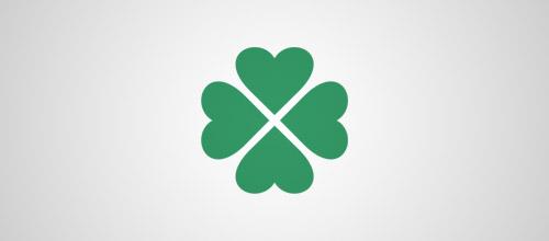 minimalist clover logo
