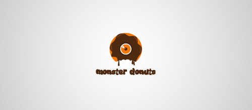 monster donuts logo design
